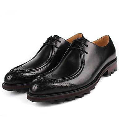 Miesten kengät Nahka Syksy Comfort Oxford-kengät varten Kausaliteetti Musta Ruskea