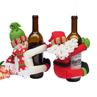 1pç Santa Bolsas de Vinho Natal, Decorações de férias Ornamentos de férias