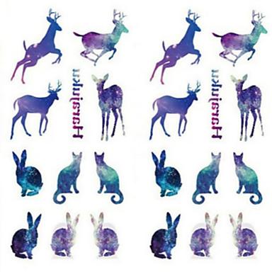 1 pcs Tatuajes Adhesivos Los tatuajes temporales Series de Animal Impermeable / Non Toxic Artes de cuerpo Cuerpo / manos / brazo