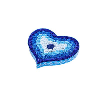Huomaa sininen koko 40 * 40 * 5cm kaltevuus ja valo nousi saippua kukka lahjapaketti
