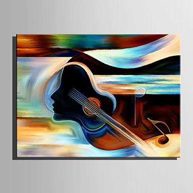 Pintada a mano Abstracto Vertical, Estilo europeo Modern Lona Pintura al óleo pintada a colgar Decoración hogareña Un Panel