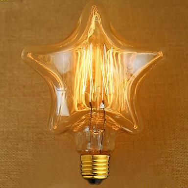 edison gul lys dekorasjon retro wolfram lampe lyskilde (e27 40w)