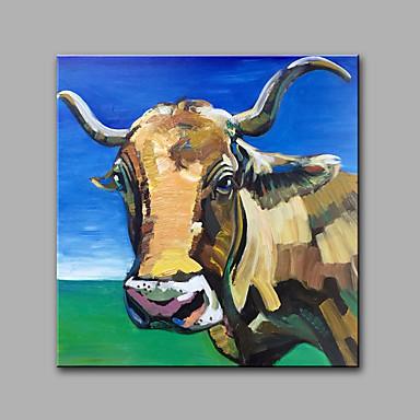手描きの 抽象画 動物 方形, 近代の キャンバス ハング塗装油絵 ホームデコレーション 1枚