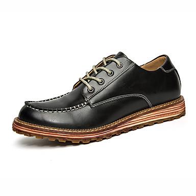 Miehet kengät Tekonahka Kevät Syksy Talvi Comfort Muotisaappaat Bootsit Käyttötarkoitus Kausaliteetti Musta Harmaa Ruskea Punainen