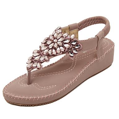 Sandaalit-Platform-Naisten-Tekonahka Mikrokuitu PU-Violetti Manteli-Puku Rento-Creepers