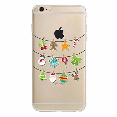 ケース 用途 Apple iPhone X iPhone 8 Plus iPhone 7 iPhone 6 iPhone 5ケース 超薄型 パターン バックカバー クリスマス ソフト TPU のために iPhone X iPhone 8 Plus iPhone 8