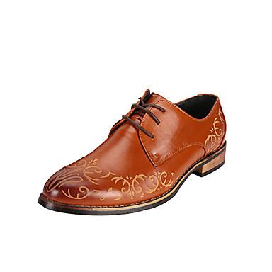 メンズ 靴 レザー 春 秋 コンフォートシューズ オックスフォードシューズ 用途 カジュアル ブラック Brown レッド