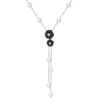 Damen Modisch Künstliche Perle Anhängerketten Perlenkette Y-Ketten Perle Aleación Anhängerketten Perlenkette Y-Ketten Hochzeit Party