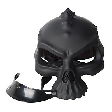cor dupla utilização crânio casco casque moto capacete retro novidade meia face