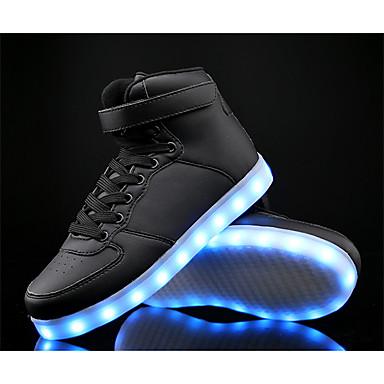 Para Meninos Sapatos Pele / Couro Ecológico Primavera Conforto / Tênis com LED Tênis para Branco / Preto / Azul