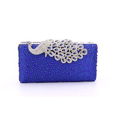 c5c5ae28a007 Women s Bags Poly urethane   Satin   Metal Evening Bag Crystal   Rhinestone    Acrylic Jewels Solid Colored Red   Golden   Royal Blue