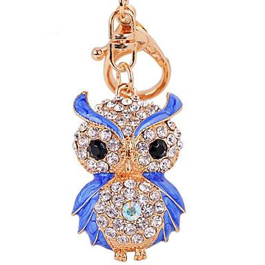 fashion diamanten uil autosleutel bag lady hanger sleutel gesp ring ketting metaal kleur