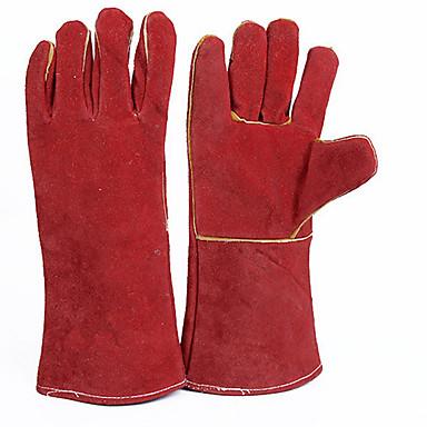 proteção da eletricidade luvas de cor vermelha
