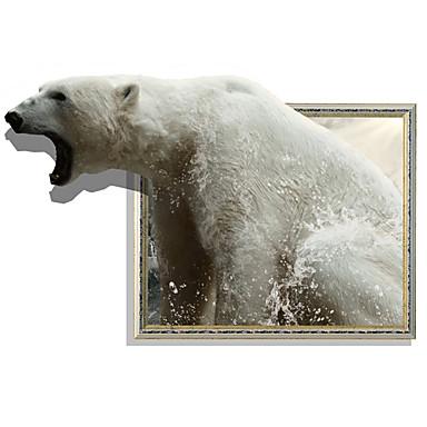 Dekorative Mur Klistermærker - Animal Wall Stickers Dyr / 3D Stue / Spisestue / Leserom / Kontor