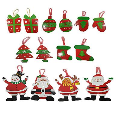 Cartões e Etiquetas de Natal Árvores de Natal Brinquedos Ternos de Papai Noel Papel Para Meninos Para Meninas Peças