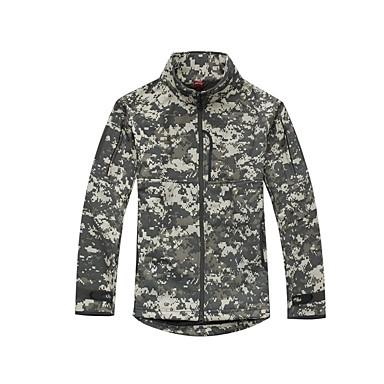 Wandern Oberteile Herrn Atmungsaktiv warm halten Windundurchlässig Herbst Winter Schaumstoff Tarnfarben Armeegrün S M L XL XXL XXXL