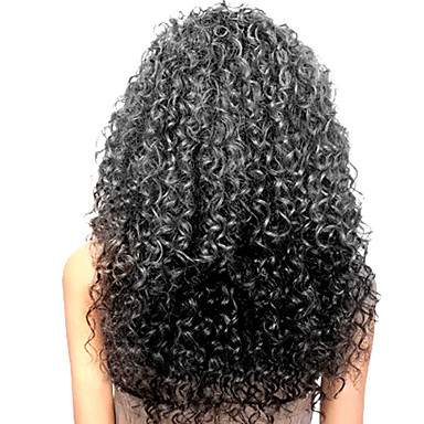Echt haar Kanten Voorkant Pruik Kinky Curly 130% Dichtheid Natuurlijke haarlijn / Afro-Amerikaanse pruik / 100% handgebonden Dames Lang Kanten pruiken van echt mensenhaar / Kinky krullen