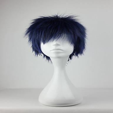 Synthetische Perücken Locken Blau Damen Kappenlos Cosplay Perücke Synthetische Haare