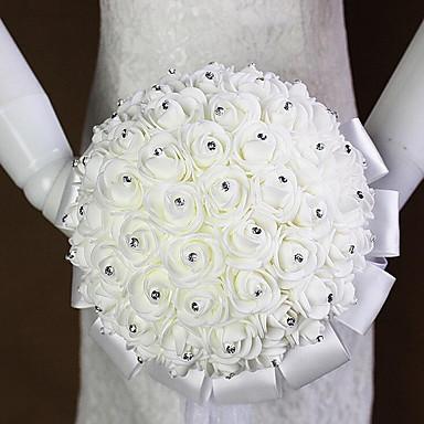 Bouquets de Noiva Buquês Casamento Strass Cetim Espuma 9.84