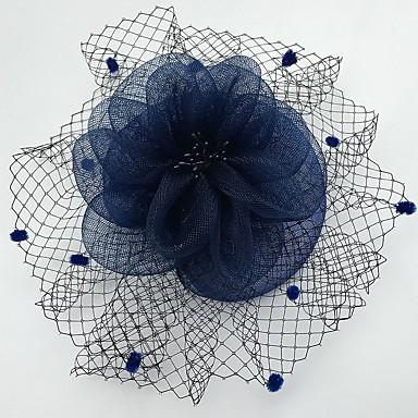 Rede Fascinadores / Decoração de Cabelo / Véus de Birdcage com Floral 1pç Casamento / Ocasião Especial / Casual Capacete