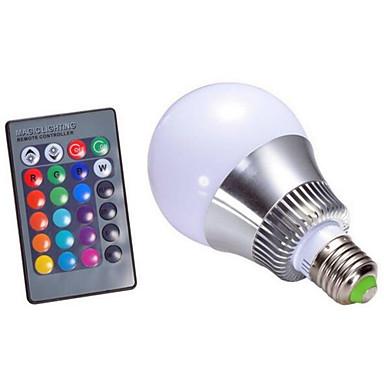 1pc 5 W 300 lm E14 / GU10 / B22 Bombillas LED Inteligentes A60(A19) 1 Cuentas LED LED Integrado Regulable / Control Remoto / Decorativa RGB 85-265 V / 1 pieza / Cañas