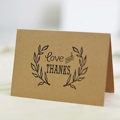トップ折り 結婚式の招待状-サンキューカード コートボール紙