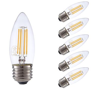 E26/E27 Lâmpadas de Filamento de LED B 4 COB 350 lm Branco Quente 2700 K Regulável V