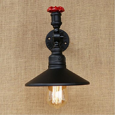 ac 220-240 40 E27 maalaismainen / jättää maalaus ominaisuus lamppu includedambient valon tuulettimet seinävalaisin musta