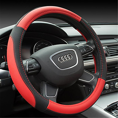 cheap Steering Wheel Covers-Steering Wheel Covers Microfiber 38cm Red / Beige / Gray For universal