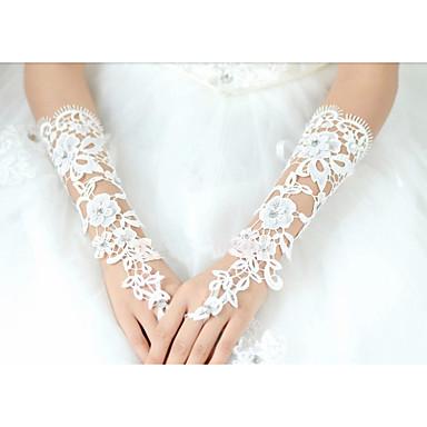 綿の肘の長さの手袋の花嫁の手袋古典的な女性的なスタイル