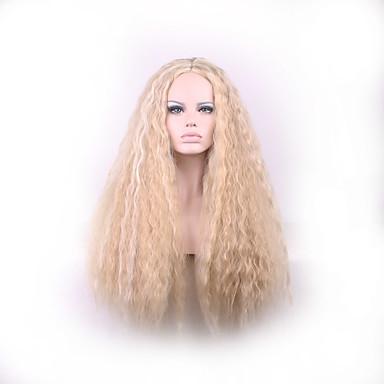 女性 人工毛ウィッグ ストレート ブロンド オンブレヘア カーニバルウィッグ ナチュラルウィッグ ハロウィンウィッグ コスチュームウィッグ