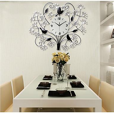 Moderno/Contemporâneo Casas Relógio de parede,Outros Acrilico / Vido / Metal 70*56cm Interior Relógio