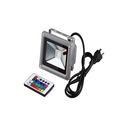 1pc 10 W Focos LED / Luz de grama Impermeable / Control remoto / Regulable RGB 85-265 V Iluminación Exterior / Patio / Jardín