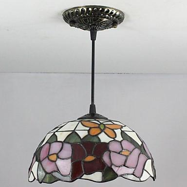 Tiffany / Retro Rød Anheng Lys Nedlys - Mini Stil, 110-120V / 220-240V 1 Pære Pære ikke Inkludert / 5-10㎡ / E12 / E14