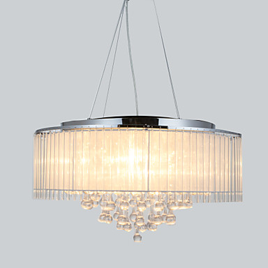 QINGMING® 8-Light Bubanj Privjesak Svjetla Ambient Light - Crystal, 110-120V / 220-240V Bulb not included / 40-50㎡ / E12 / E14