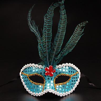 (Kleur random) 1pc Halloween kostuum partij masker teen box ornamenten
