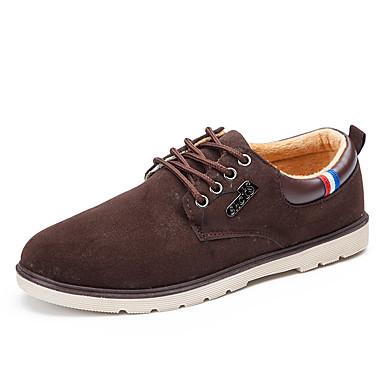 Miehet Oxford-kengät Comfort Tekonahka Kevät Kesä Syksy Talvi Kausaliteetti Kävely Solmittavat Tasapohja Musta Ruskea Sininen Tasapohja