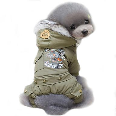 Hund Frakker Hættetrøjer Hundetøj Politi/Militær Jægergrøn Kakifarvet Bomuld Kostume For kæledyr Herre Dame Cosplay Vindtæt Hold Varm Mode
