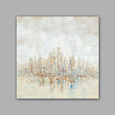 手描きの 抽象画 方形, クラシック 近代の キャンバス ハング塗装油絵 ホームデコレーション 1枚
