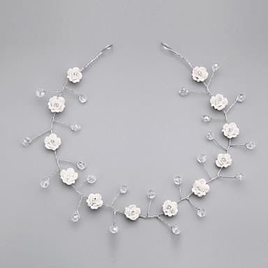 Kristal alaşım - Çiçekler Saç Pimi 1 Düğün Özel Anlar Günlük Başlık