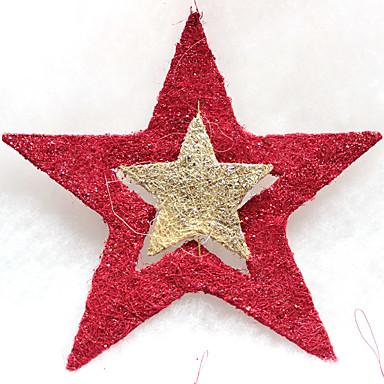 1pc decoraçao estrela de cinco pontas para o partido traje do Natal