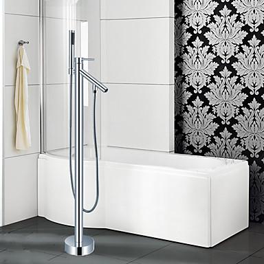 Hedendaagse Art Deco / Retro Modern Bad en douche Waterherfst Inclusief handdouche Met uitneembare spray Wijdverspreid Staat op vloer