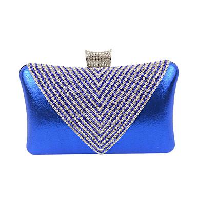 Mujer Bolsos Terciopelo Bolso de Noche Cristal / Cristal Plata / Dorado / Azul Real
