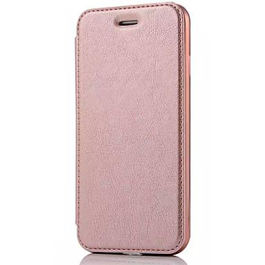 Etui Käyttötarkoitus Apple iPhone X iPhone 8 iPhone 5 kotelo iPhone 6 iPhone 7 Korttikotelo Flip Suojakuori Yhtenäinen väri Kova PU-nahka
