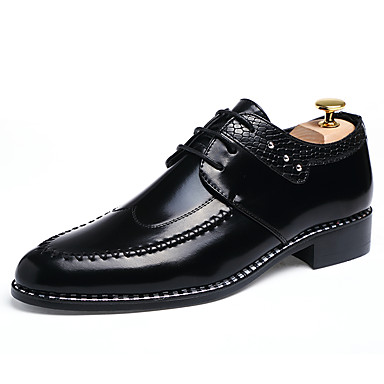 Men's Formal Shoes Patent Leather Spring / Fall Business Oxfords / Black / Light Brown / Oxfords Burgundy / Leather Shoes / Dress Shoes 034819