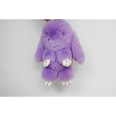 ミンクウサギレッキス小さなウサギのペンダントカーキーホルダーバッグの装飾品