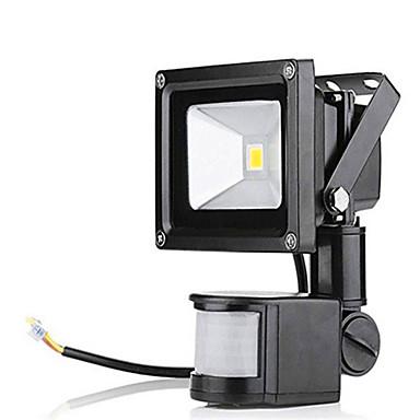 ac85-265v 10wコールドホワイト/暖かい白1000lm赤外線人体誘導投光ライト1pc