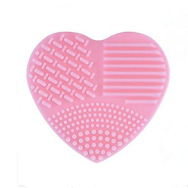 1 PC Bolsas y Limpiadores para Pinceles Silicona Heart Shape