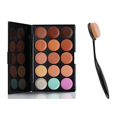 15 farver Concealer / kontur Våd Creme Concealer / Behandling af sorte render under øjnene / porereducerende Ansigt Kina Naturlig