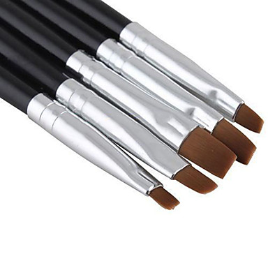 voordelige Nagelgereedschap & Apparatuur-5 stuks Hout / Nylon Nail Painting Tools Voor Noviteit Nagel kunst Manicure pedicure Klassiek / leuke Style Dagelijks